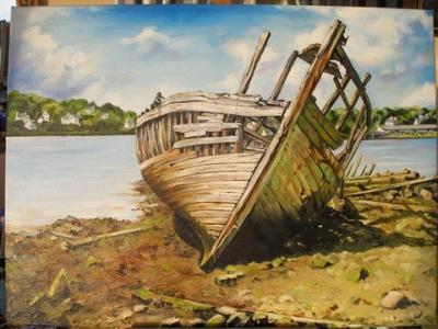 Gloaguen danielle peinture et bois flott la galerie for Peinture bois flotte